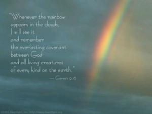 Rainbow Bible verse