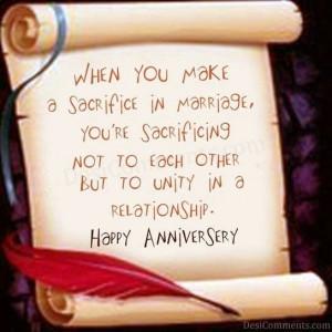 Happy Wedding Anniversary Quote Graphic