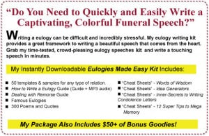 Eulogy – The Ultimate Speech: Write a Heart Felt and Memorable ...