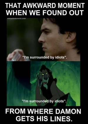 awkward moment, damon salvatore, text, tvd