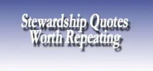 Stewardship quote #2