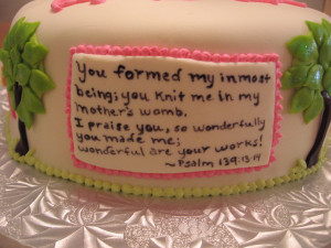 Our Cakes Throughout the Years: Christian-themed Baby Shower
