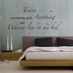 "Wanna Lay In My Bed -"" Bedroom Wall Sticker Quote by Serious Onions ..."