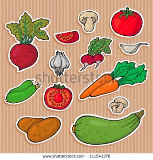 ... vegetable-stickers-fresh-vegetables-easily-editable-vector-vegetable