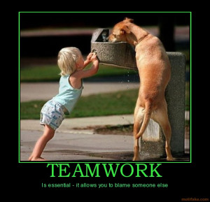 funny teamwork posters quotes picture