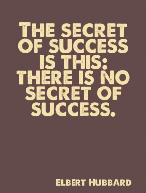 There Is No Secret - Success Quote