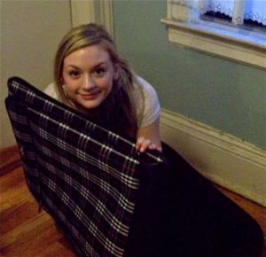 Emily Kinney With Plaid Cloth