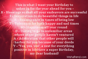Happy Birthday Wishes for Husband Quotes
