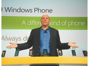 ... Steve Ballmer said, showing off nine phone models at a launch event in
