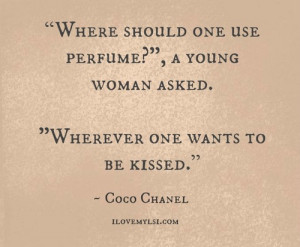chanel, coco chanel, kiss, perfume, quote, quotes, woman