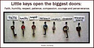 Little keys open the biggest doors!