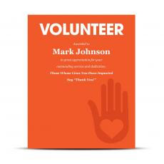 Industry Plaque - Volunteer Industry Award Plaque