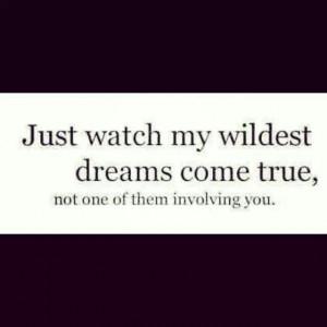 Wildest dreams.