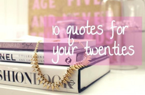 10 Quotes for Your 20s