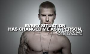 David Beckham Inspirational Quotes. He is an international sensation ...