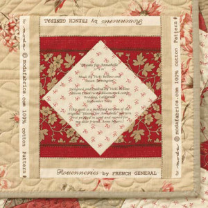 Another example of a quilt label from Vicki Bellino