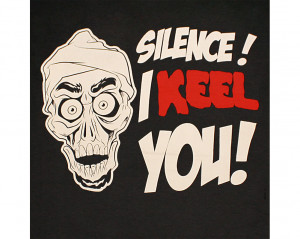Jeff Dunham Achmed Silence I Keel You Black Graphic Tee Shirt