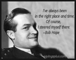 Large collection of Bob Hope quotes and sayings organized by subject ...
