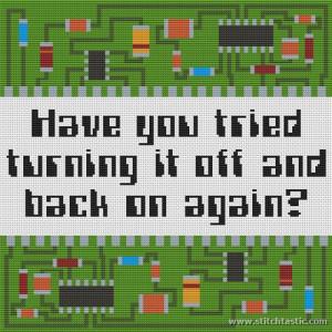 Computer Sayings Cross Stitch Kit