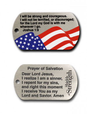 joshua 1 9 full color american flag inspirational necklace