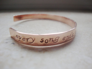 One tree hill inspirational quote copper hand stamped bracelet