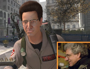 ... Harold Ramis in the game as Dr. Egon Spengler, and as himself (inset