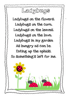 songs about insects for preschoolers ladybug poems or quotes quotesgram 991