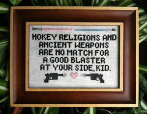 Han Solo Quote Cross Stitch (Star Wars)