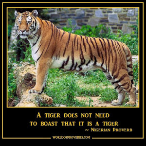 Tiger Quotes And Sayings A tiger does not have to