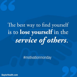 ... in the service of others. | inspirational-quotes #motivation #quotes