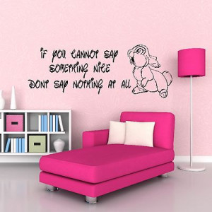 Walt Disney Thumper Bambi Quote Wall Sticker Childrens Bedroom Design ...