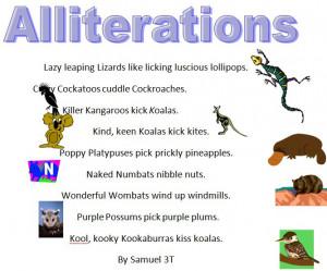... Animals Alliteration Poems » Samuel: Alliteration Poem, Allit Poem