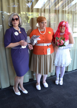 Malory Archer, Pam Poovey, and Krieger's Virtual Girlfriend cosplay ...