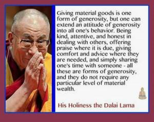 quote - generosity