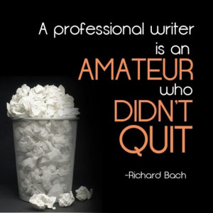 Writing quote - Richard Bach #writing