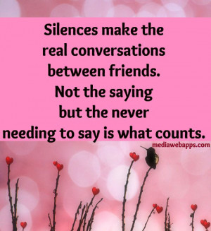 ... needing to say is what counts. ~Margaret Lee Runbeck Source: http