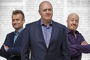 Mock The Week. Image shows from L to R: Hugh Dennis, Dara O Briain ...