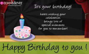 Happy Birthday eCards and Quotes for friends and family