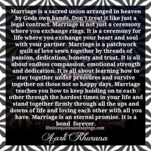 Marriage Is An Eternal Promise....