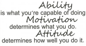 Ability, motivation, attitude, inspirational wall quote vinyl, decal ...