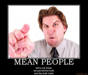 PRAYER FOR MEAN SPIRITED PEOPLE