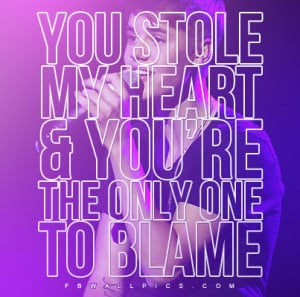 Justin Bieber You Stole My Heart Quote Picture