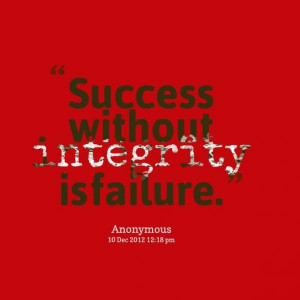 Integrity quotes, thoughts, wise, sayings, success