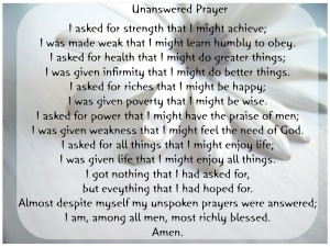 Unanswered Prayer ( Graphics by Dmagdalene )