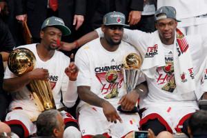 Caption This: Miami's 'Big Three' celebrate their title