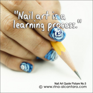 Nail art used for photo is Blue Wave .