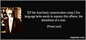 Auschwitz Concentration Camp Quotes