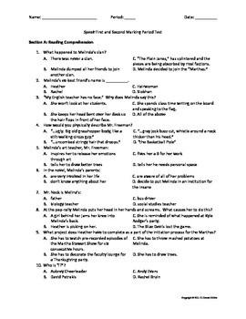 Complete Test Assessment Bundle for Speak by Laurie Halse Anderson