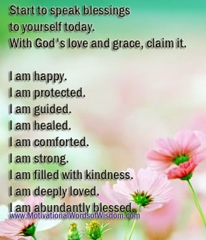 ... blessings to yourself today. With God's love and grace, claim it