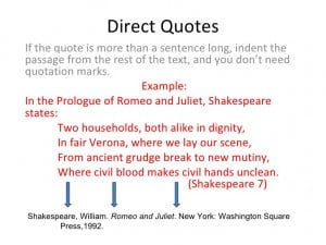 How do you cite a quote when your writing an essay?